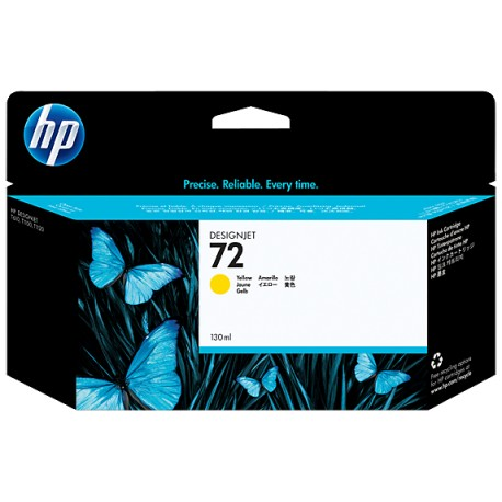 HP 72 130-ml Yellow + Vivera Cartridge Plotter