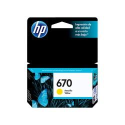 HP 670 CZ116AL Yellow Ink Cartridge